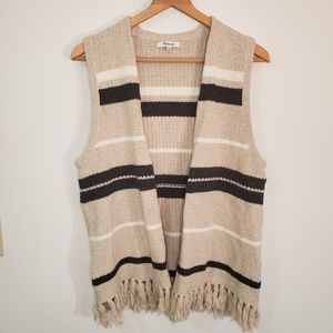 Madewell Coastward Fringe Sweater Vest
